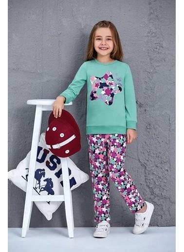U.S. Polo Assn. Us Polo Assn Lisanslı Kız Çocuk 2'Li Takım Çağla Yeşili Yeşil